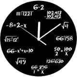 Matemáticas reloj - Exclusivo reloj de pared - Cada Hora marcada por un simple Math Equation - Reloj de cuarzo -  - Reloj