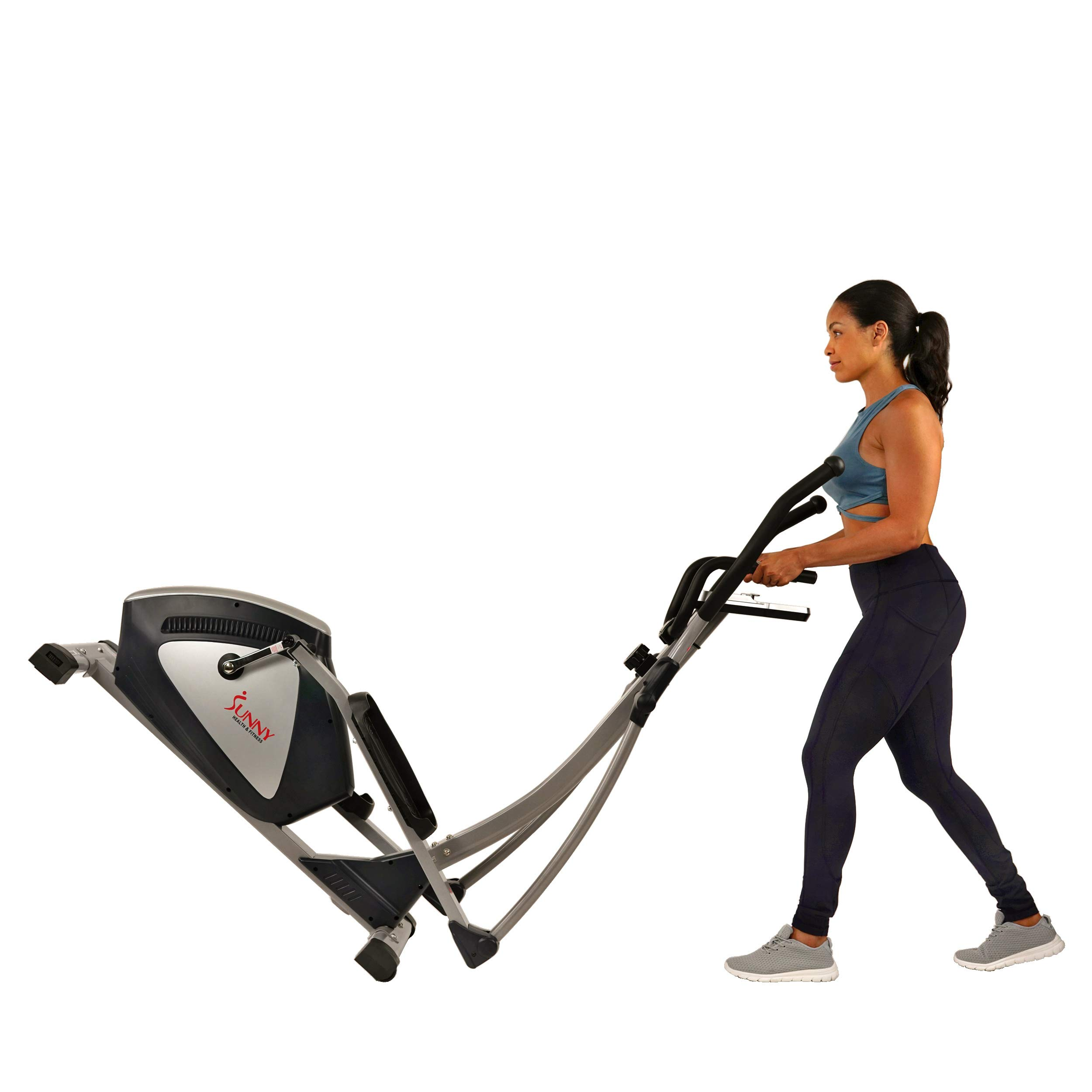 Sunny Health & Fitness Magnetic Elliptical Trainer Elliptical Machine w/  LCD Monitor and Heart Rate Monitoring - Endurance Zone - SF-E3804 by Sunny Health & Fitness (Image #10)