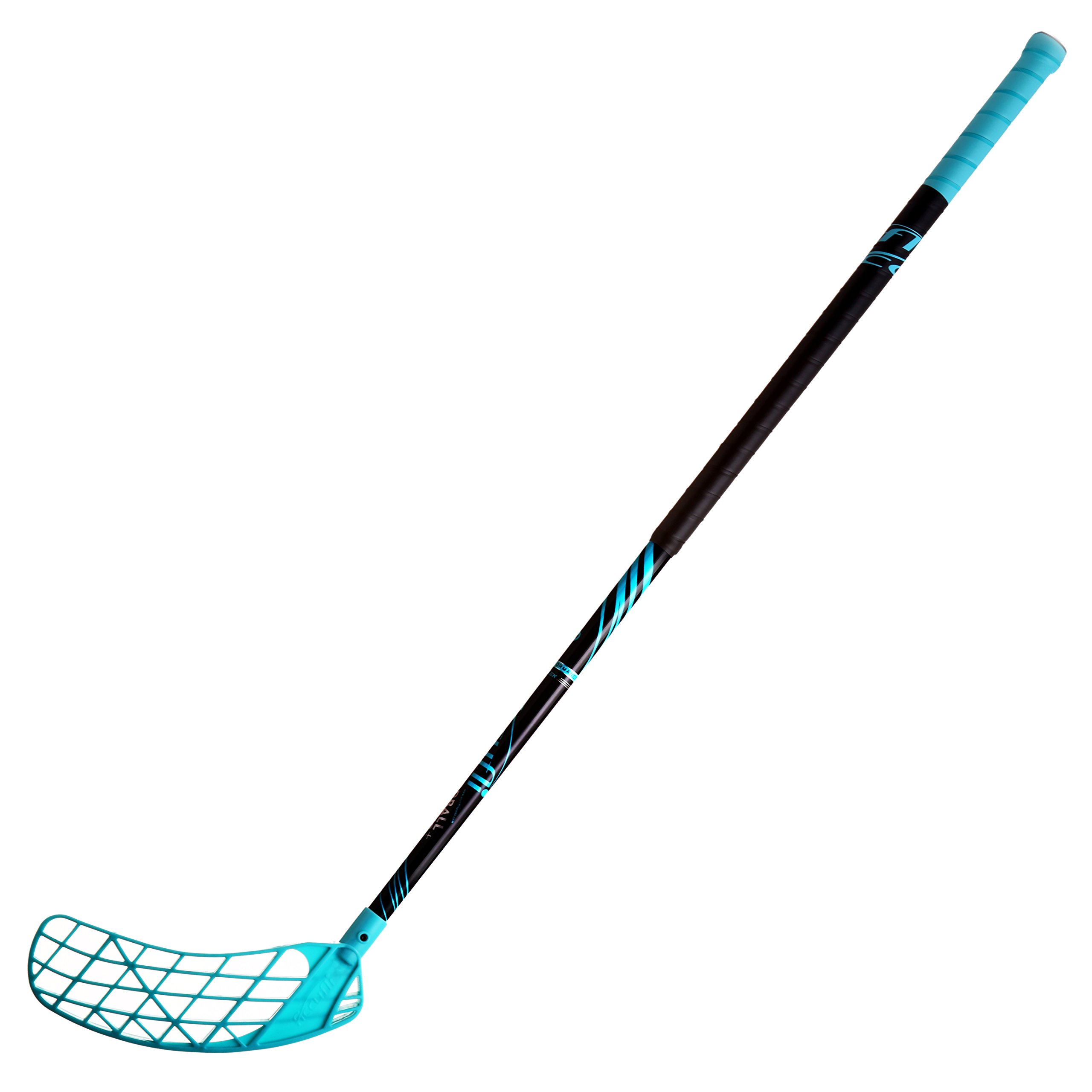 ACCUFLI Floorball Stick A90 Left Stick 40inch Curved Blade (Teal)