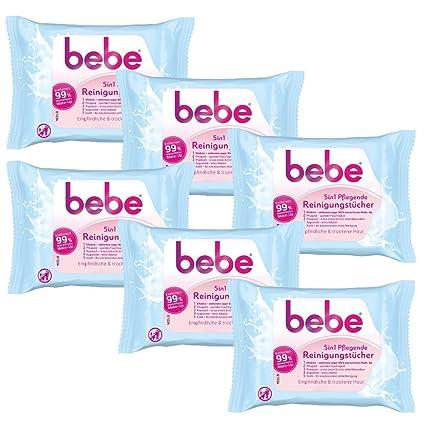 Bebe 5 in1 – Toallitas limpiadoras / toallitas desmaquillantes para piel delicada y seca , 6