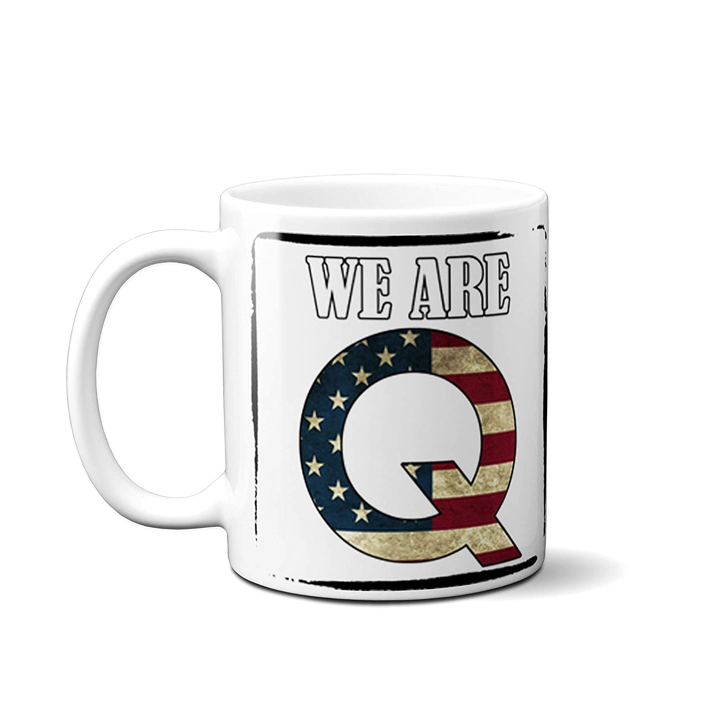 Qanon Coffee Mug White 11 OZ We Are Q