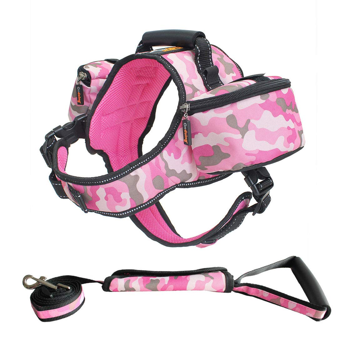 Pink XL Pink XL Carriemeow Saddle-Shaped Pet Dog Backpack Out of Large and Medium Dogs Outdoor Traction Dual-use (color   Pink, Size   XL)