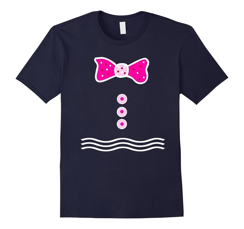 Pink Gingerbread Man Girl T-shirt Merry Christmas Tee-CD