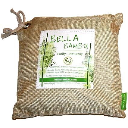 Bella Bambu Activated Bamboo Charcoal Bag – 100% Natural Air Freshener, Purifier, Deodorizer