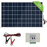 ECO-WORTHY Kit de sistema de panel solar de 10 vatios: 1 módulo solar de 10 W 12 V con controlador de carga de 3 A con…