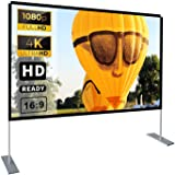 Projector Screen with Stand 100 inch 16:9 HD 4K Outdoor Indoor Projection Screen for Home Theater 3D Fast-Folding Projector S