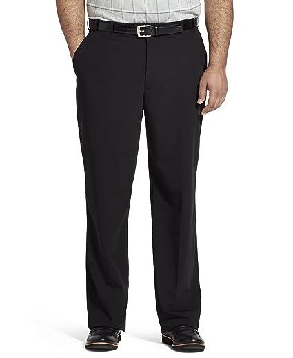 db3acacd Van Heusen Men's Big and Tall Flex Straight Fit Flat Front Pant