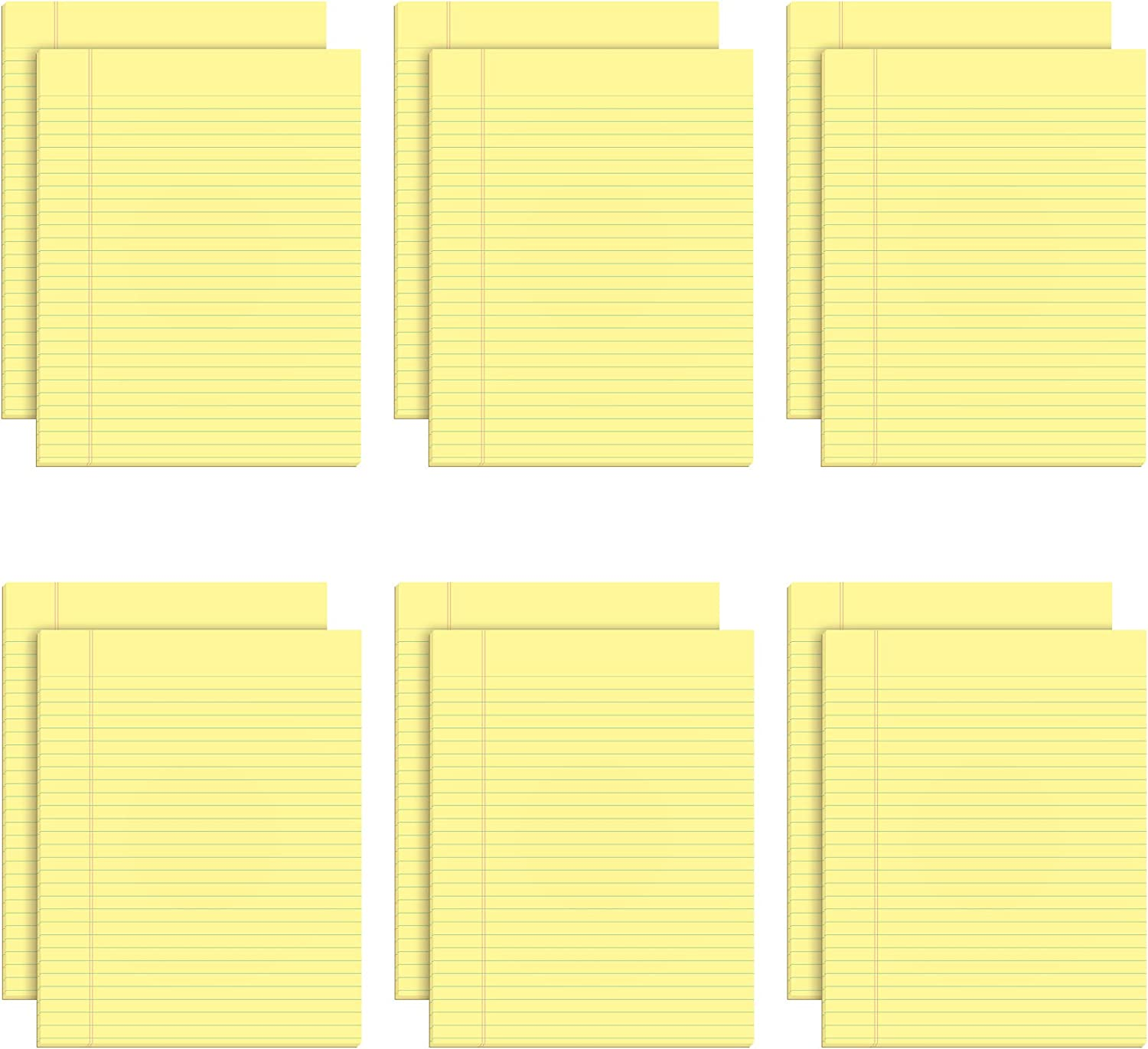 TOPS 36 The Legal Pad Glue Top Pads, Legal/Wide, 36 36/36 x 3636, Canary, 36  Sheets (Pack of 3636)