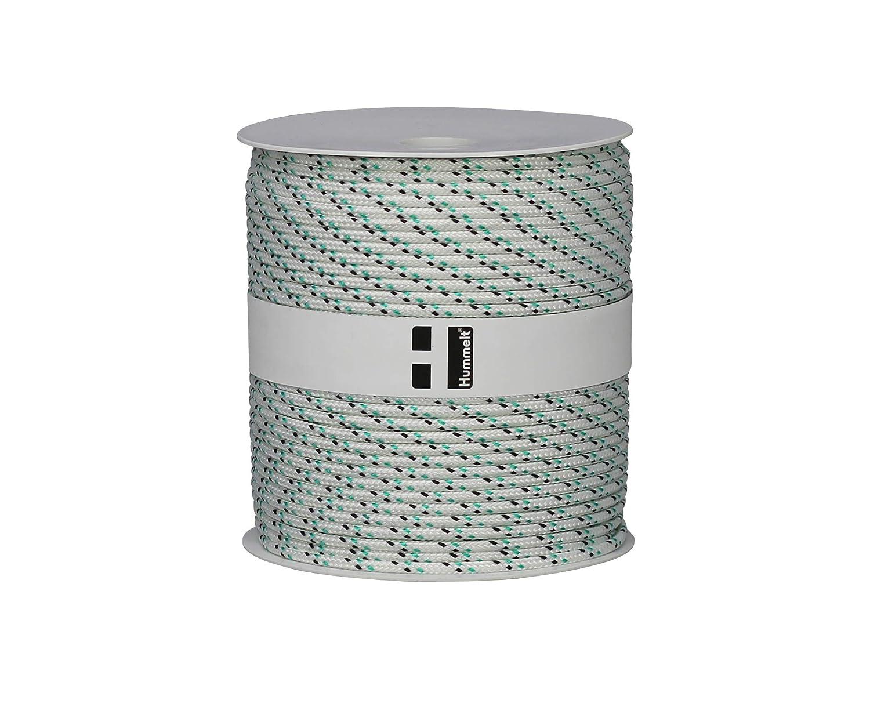Hummelt/® SilverLine-Rope Schot Seil Polyesterseil 6mm 50m wei/ß//gr/ün auf Rolle