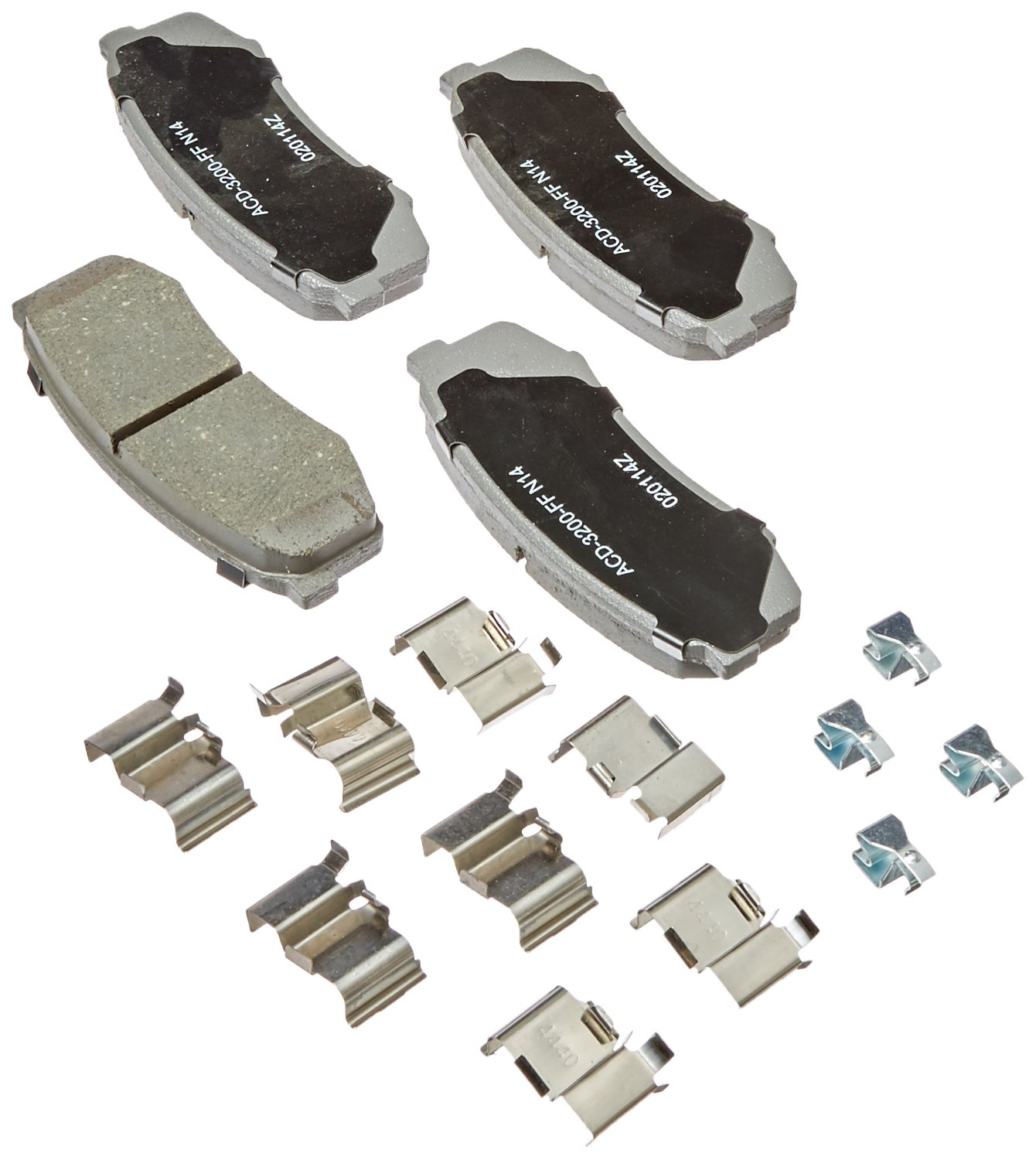 ACDelco 14D606CH Advantage Ceramic Rear Disc Brake Pad Set by ACDelco