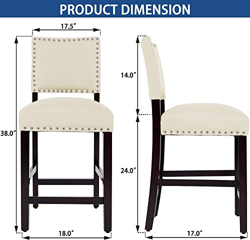 DAGONHIL 24 Inches Counter Height Bar Stool