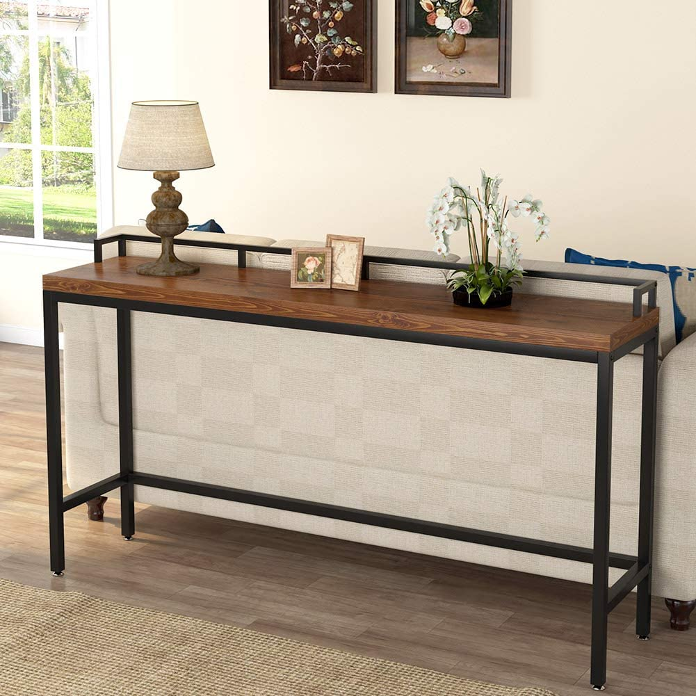 70 9 Extra Long Solid Wood Console Table Behind Sofa Couch For Small Space Ebay