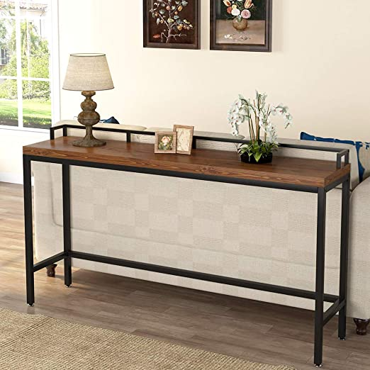 Amazon Com Tribesigns 70 9 Inch Extra Long Solid Wood Console Table Behind Sofa Couch Industrial Narrow Entryway Table Long Skinny Table For Living Room Hallway Small Space Kitchen Dining