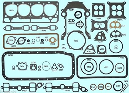 Amazon com: Ford/Edsel/Mercury 272 292 Y-Block Full Engine Gasket
