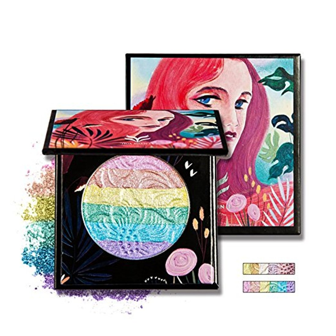 Pure Vie Professional 7 Colors Rainbow Eyeshadow Palette Makeup Contouring Kit for Salon and Daily Use