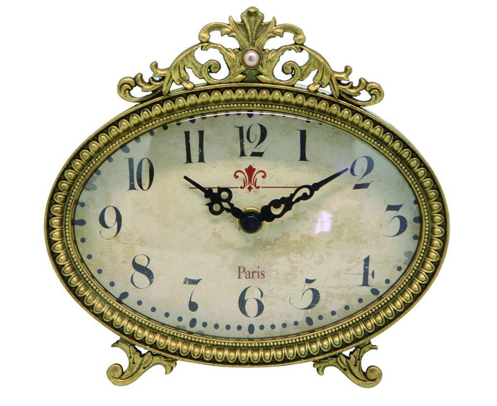 NIKKY HOME Orologio da Tavolo Vintage al Quarzo Metallo con Uccello Nero Regalo Decorazione per la Casa