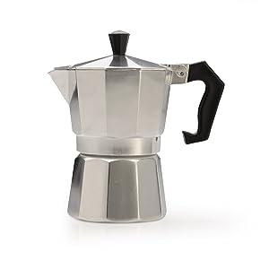 Primula Maker-Aluminum-for Bold, Full Body Espresso – Easy to Use – Makes 1 Cup