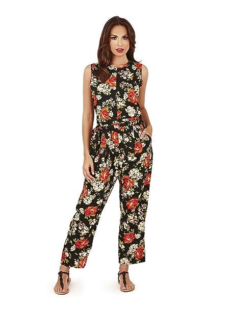 4b2b75af84 Ladies Patterned Jumpsuit Pistachio Bandeau Or Sleeveless Summer Playsuit   Amazon.co.uk  Clothing