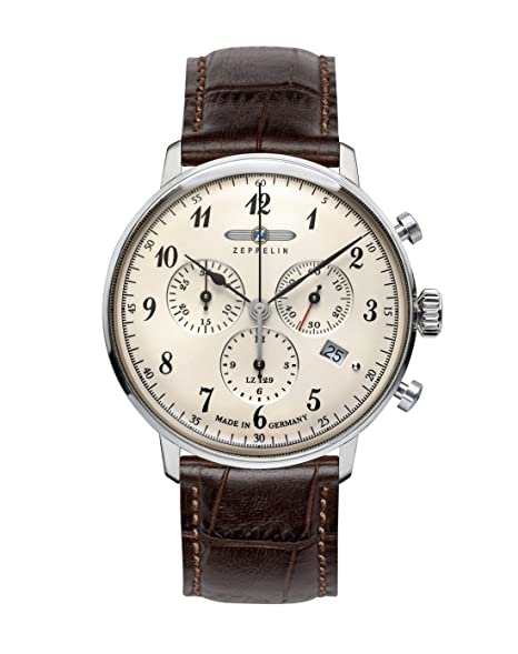Zeppelin 7086-4 - Reloj, correa de cuero color marrón