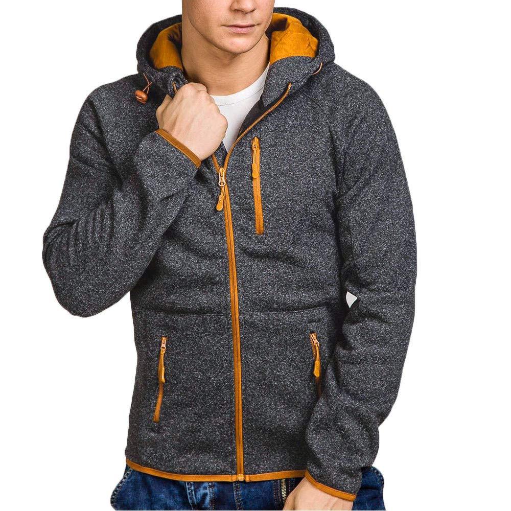 Toimothcn Mens Drawstring Hooded Sport Coat Autumn Winter Casual Zipper Pullover Sweatshirt Hoodie 2356488 Toimothcn-619805