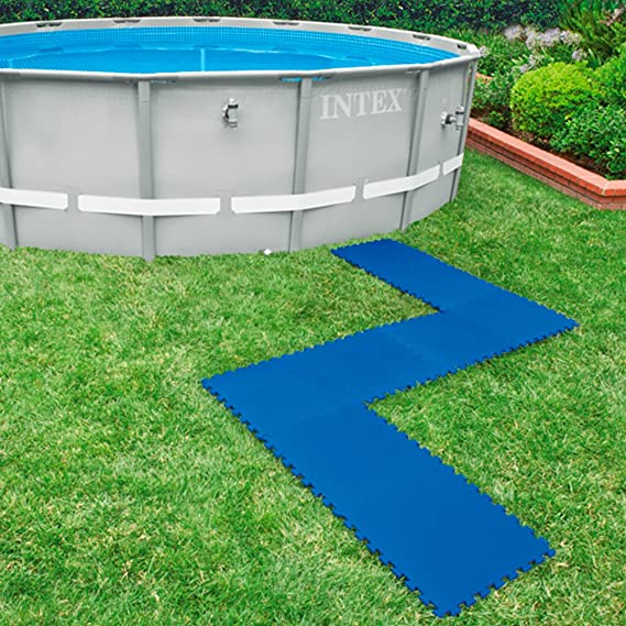 Intex 29081 - Protector suelo para piscinas 50 x 50 x 1 cm, 8 piezas: Amazon.es: Jardín
