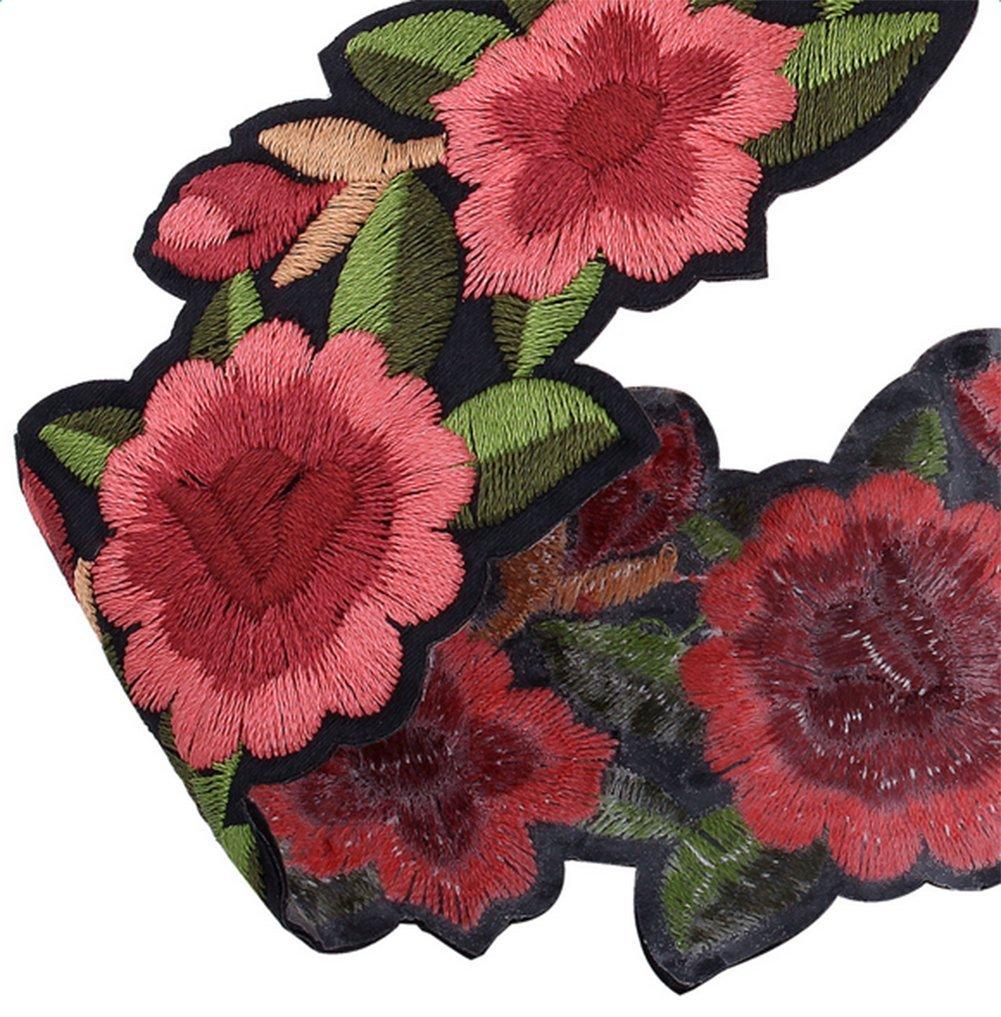 Hosaire Gargantilla Collares de Bordados de Flores de Color Rojo Ramo Bordado Collar Collares Nuevo Estilo para Mujeres de la Joyería Accesorios: Amazon.es: ...
