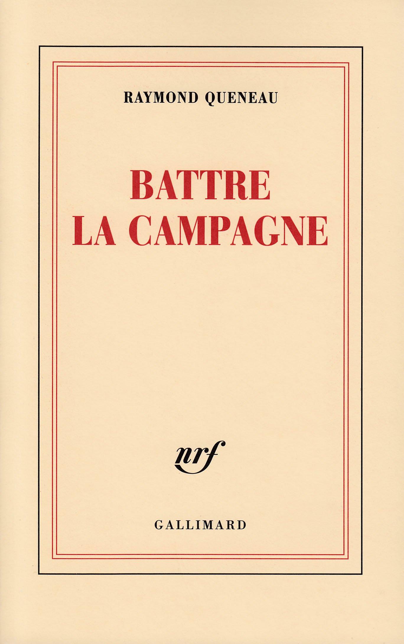 0f5d182a260 Amazon.fr - Battre la Campagne - Raymond Queneau - Livres