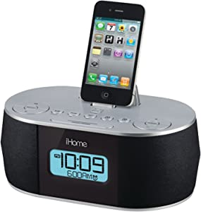 iHome Stereo System with Dual Alarm FM Clock Radio for iPad/iPhone/iPod