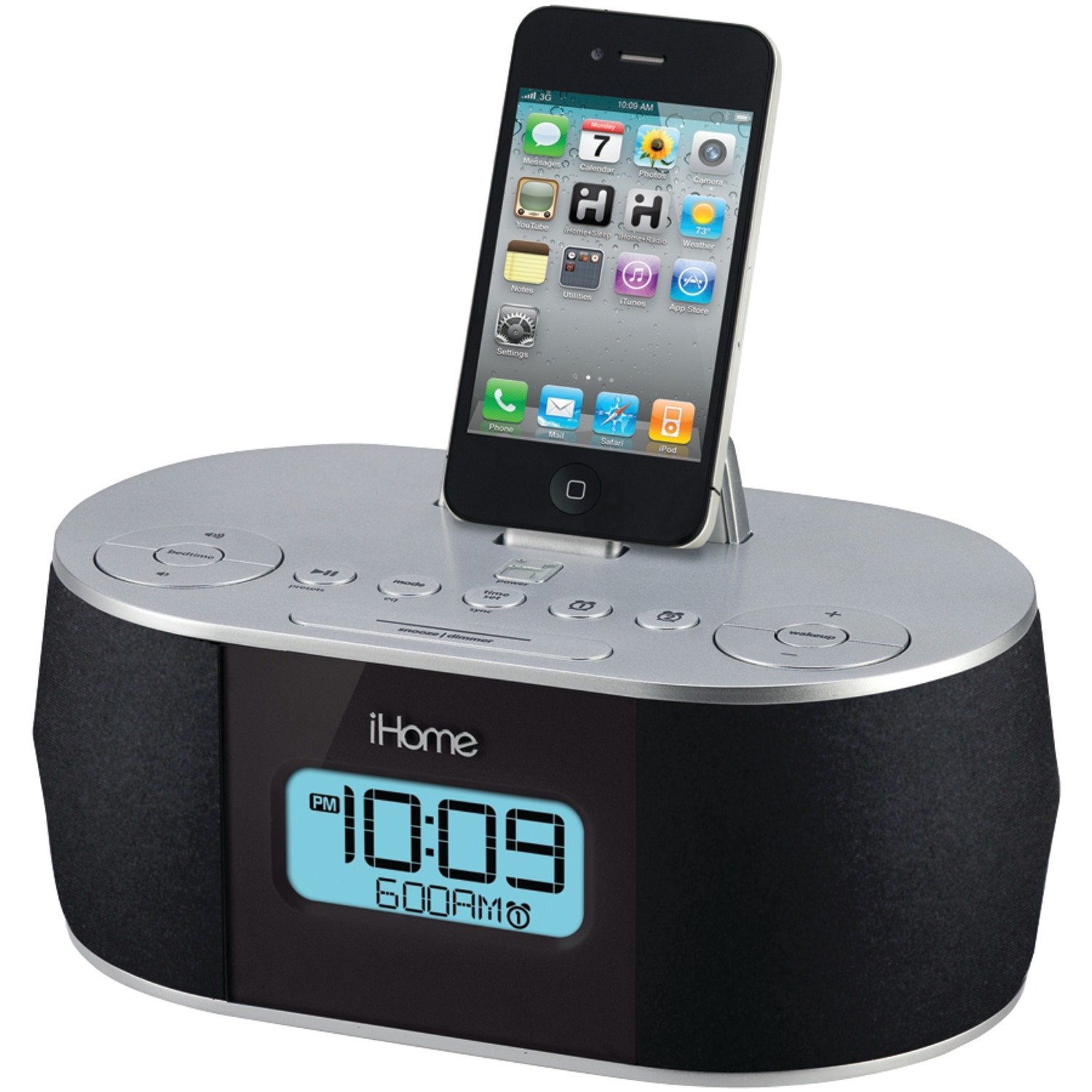 amazon com ihome stereo system with dual alarm fm clock radio for rh amazon com ihome alarm clock hih33 ihome alarm