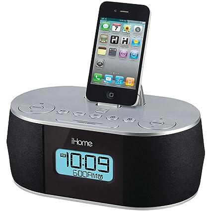 amazon com ihome stereo system with dual alarm fm clock radio for rh amazon com