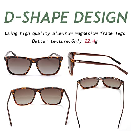 3a50ff585f ... NIEEPA Square Polarized Sunglasses Aluminum Magnesium Temple Retro  Driving Sun Glasses (Brown Lens Leopard ...