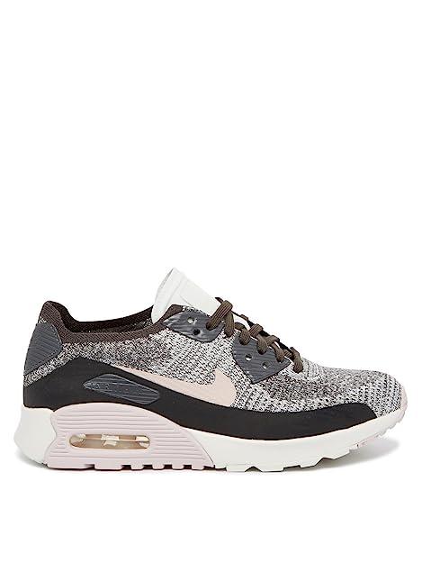 6adf30fbb82 Nike Air Max 90 Ultra 2.0 Flyknit Niebla - Zapatillas Mujer - Gris, 36 1/2:  Amazon.es: Zapatos y complementos