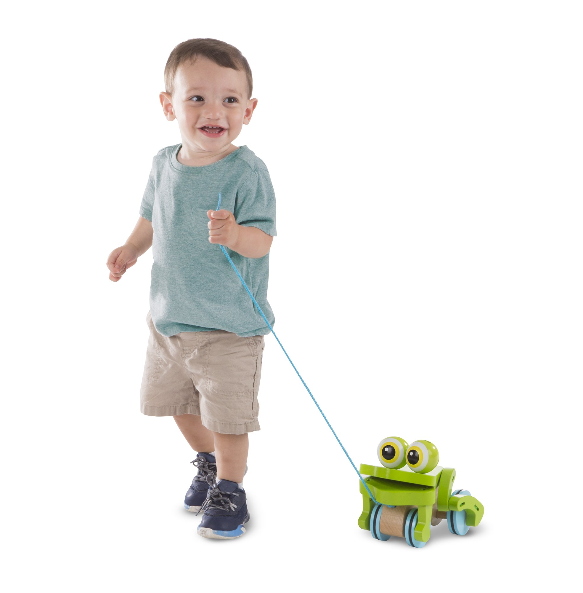 Melissa & Doug First Play Frolicking Frog Wooden Pull Toy by Melissa & Doug (Image #3)