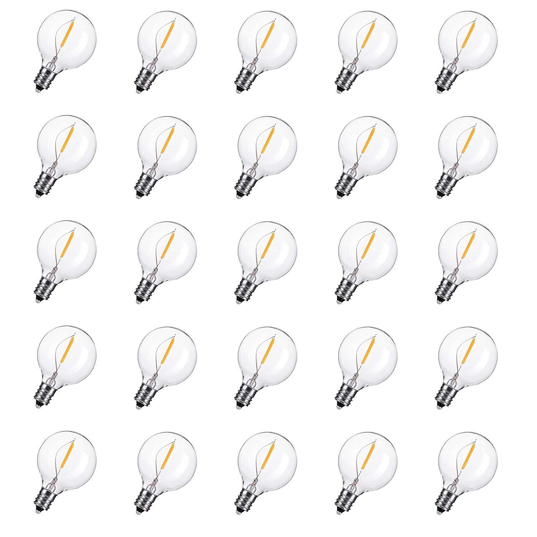 Clear Globe G40 スクリューベース電球 ホワイト B07RQS3YT7 Led Bulbs