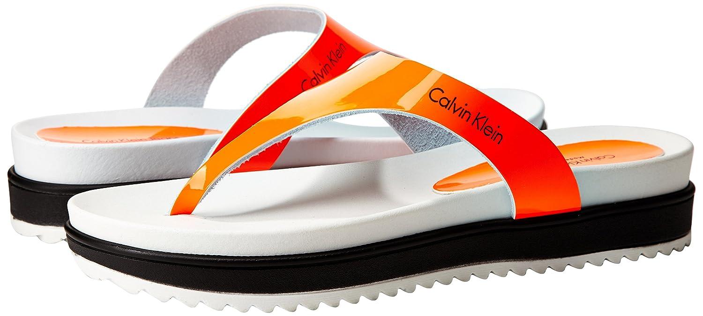 Calvin Damen Klein Jeans Ginevra Patent Damen Calvin Zehentrenner e8db6c