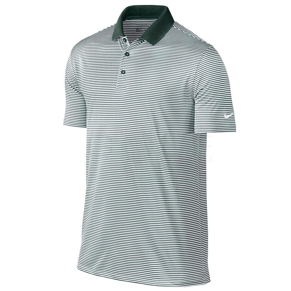ナイキ ゴルフ DRI-FIT ヴィクトリー ミニ ストライプ 半袖ポロシャツ B009698FJY Small Pro Green/White Pro Green/White Small