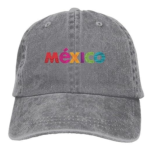 82bbc79ea39 Denim Hat Mexico Logo Snapback Curved Baseball Hats 100% Cotton Adjustable  Hip Hop Caps for Unisex Dad Cap - 8 Colors at Amazon Men s Clothing store