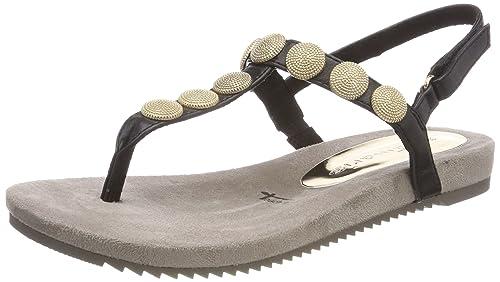 Tamaris 28168 Sandali con Cinturino alla Caviglia Donna Nero Black 43