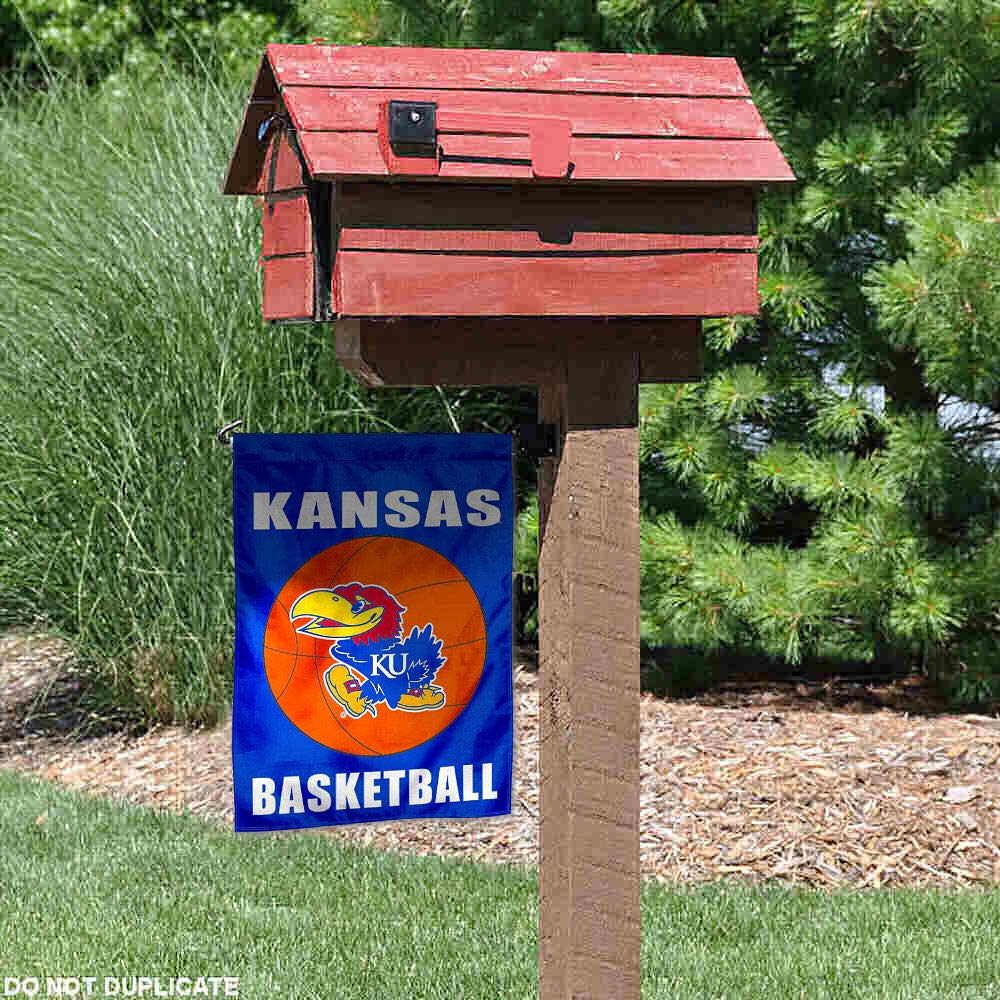Kansas Jayhawks Basketball Garden Flag College Flags and Banners Co