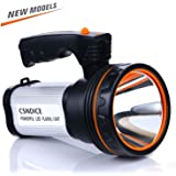 Römer LED Rechargeable Handheld Searchlight High-power Super Bright 9000 MA 6000 LUMENS CREE Tactical Spotlight Torch Lantern Flashlight (plata)