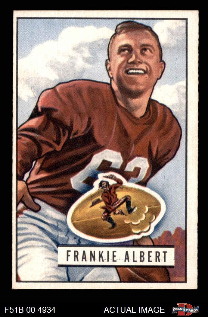 1951 Bowman # 103 Frankie Albert San Francisco 49ers (Football Card) Dean's Cards 5 - EX 49ers Stanford 71v8A59GXxL