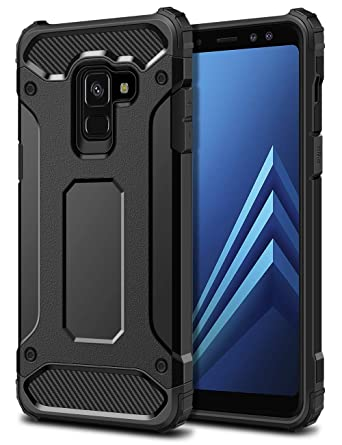 huge discount 80a84 22297 SAMONPOW Armor Case for Samsung Galaxy A8(2018),Dual Layer Rugged Galaxy A8  (2018) Case Heavy Duty Protection Hard PC Back Soft TPU Shockproof Cover ...