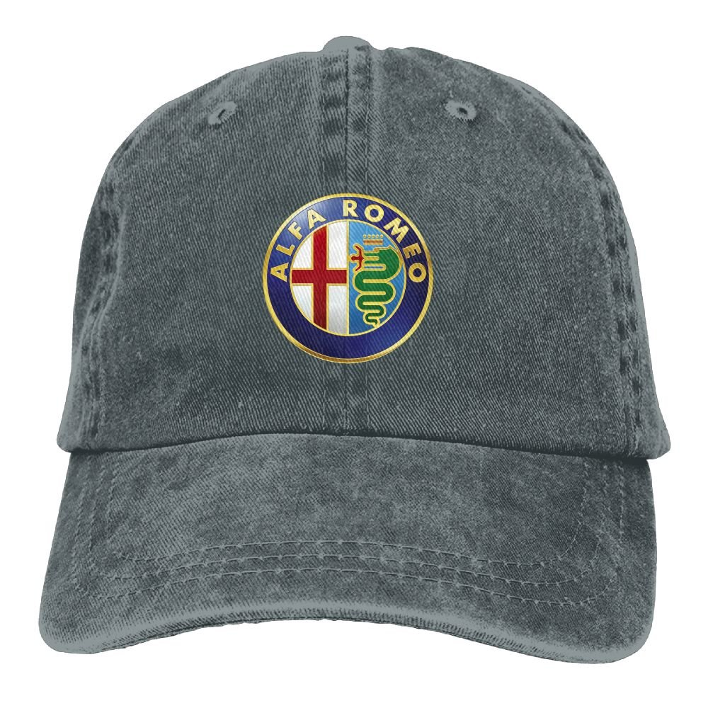SumiDom Alfa Romeo Logo Unisex Adult Baseball Cap Trucker Hat Cowboy Hat Hip Hop Sports Snapback