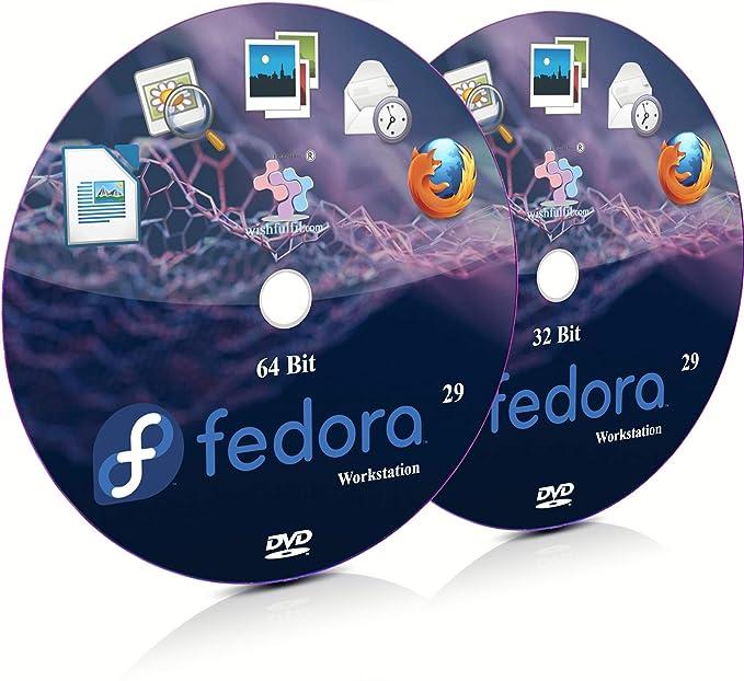 Fedora 29 GNOME 32 Bit and 64 Bit Live Bootable Installation DVD
