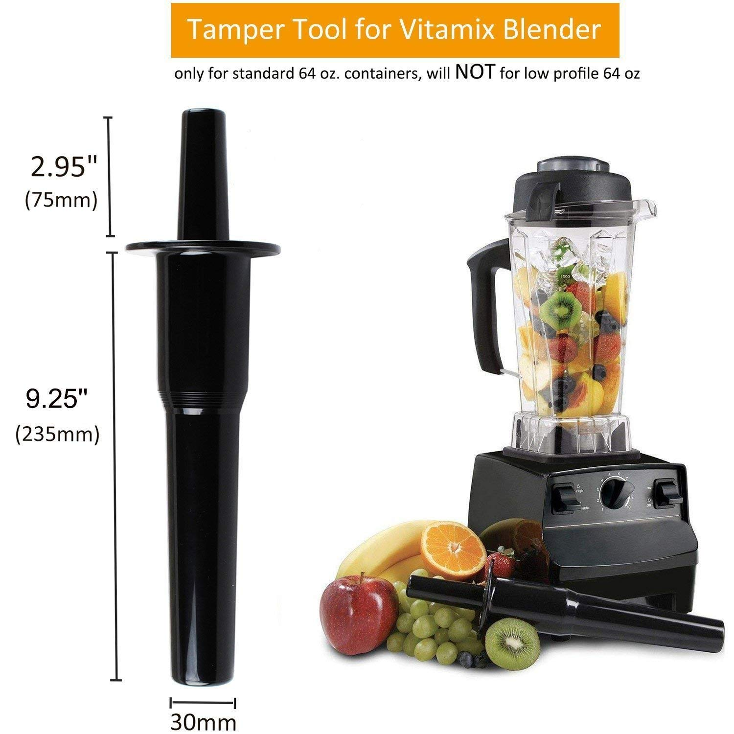 Best Accessories Accelerator Tool for Vitamix Blenders Tamper Tool for Classic 64 OZ Classic Containers