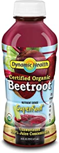 Dynamic Health Beetroot Juice Concentrate,Certified Organic, No Additives, Unsweetened, Vegan, Non-GMO, 16oz