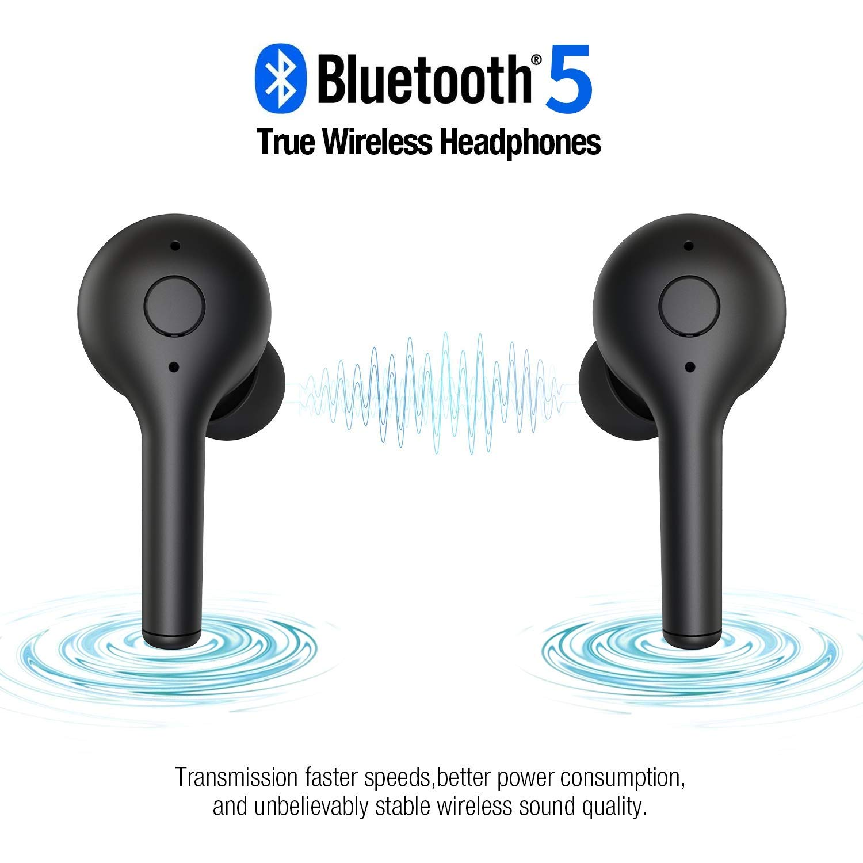 Premium IPX5 Waterproof Bluetooth 5.0 Headphones with Graphene-Enhanced Wireless Earbuds 4x8H Playtime in-Ear Stereo Calls