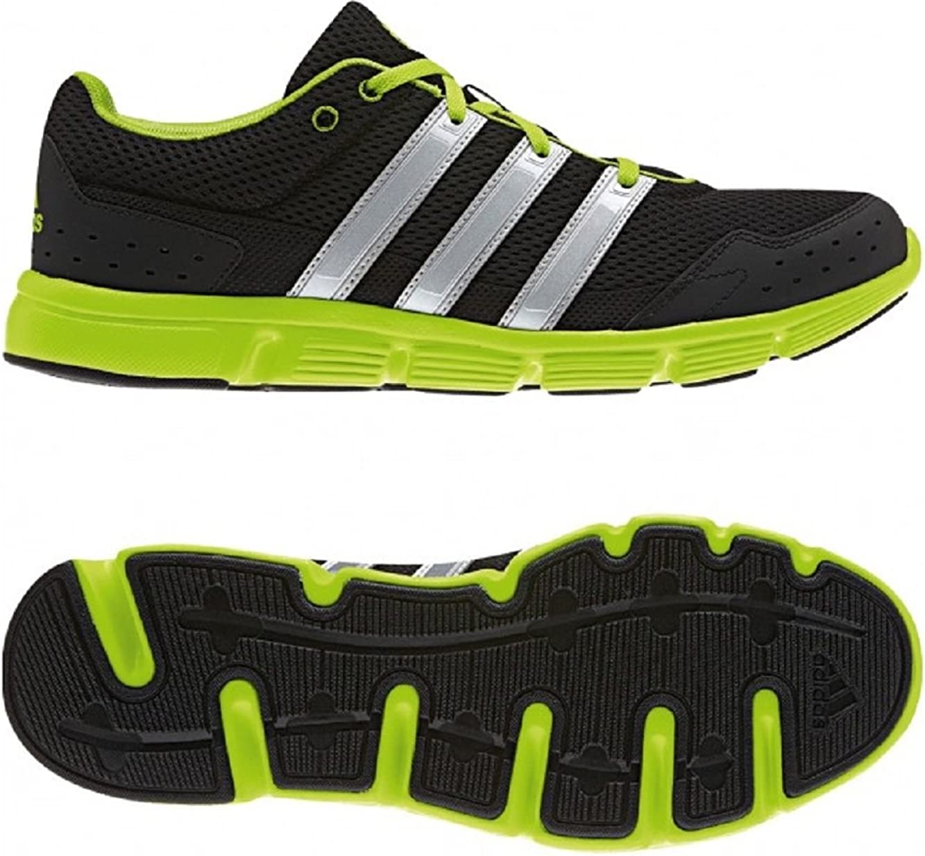 Series Running Shoes, Black/Neon green