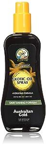 Australian Gold Dark Tanning Exotic Oil Spray, Carrot Extract Formula, 8 Fl Oz