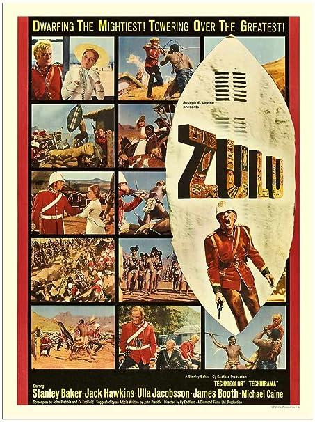 Zulu Movie Poster 30x40cm Art Print Amazoncouk Kitchen Home